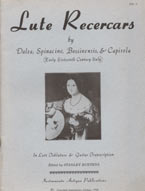 Lute Recercars - ed. by Stanley Buetens