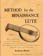 Method for the Renaissance Lute - Stanley Buetens