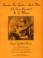 Sonata For Guitar And Flute (or Tenor Recorder) - E. G. Baron